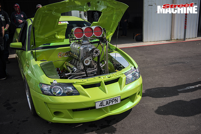 Performance car mania green Holden 383ci LS1 VZ Maloo engine bay