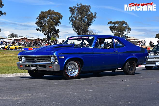 Performance Car mania blue 1968 chevrolet nova
