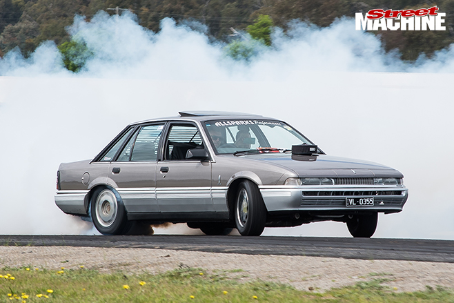 Performance car mania holden HK premier burnout