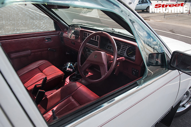 Performance car mania white holden l series VC commodore sleeper interior