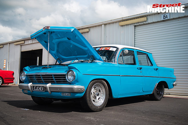 Performance car mania blue chevrolet ej