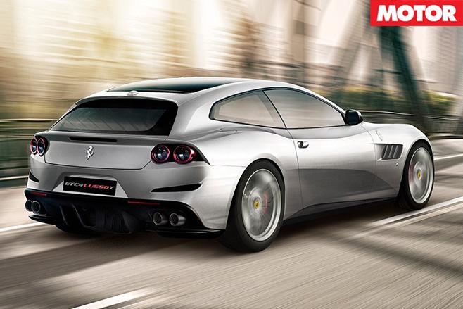 Ferrari GTC4 Lusso T rear