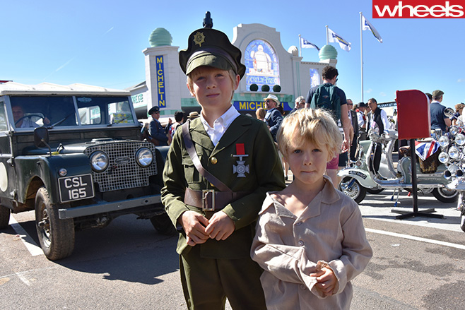 Children -with -Jeep -Goodwood -Revival