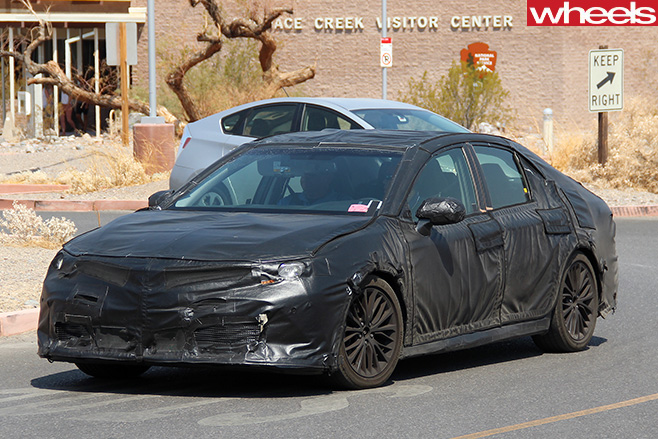 Toyota -Camry -side -front -driving