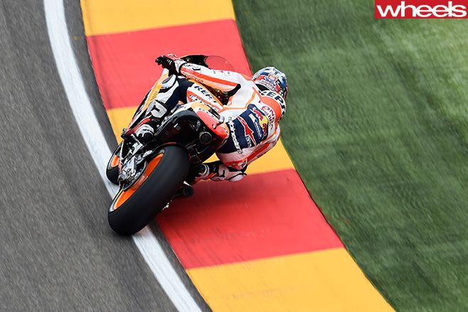 Marc -Marquez -riding -motorbike