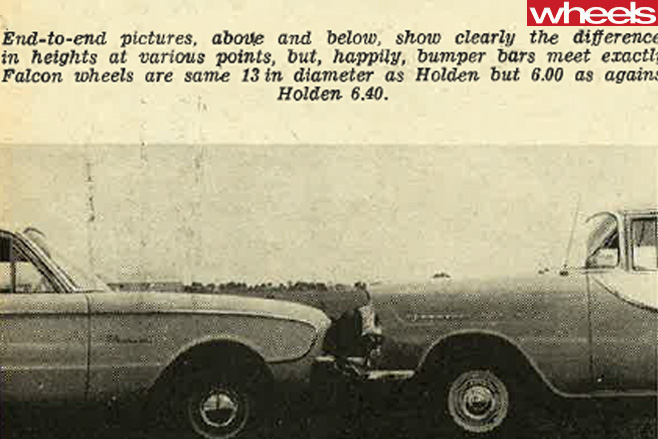 1960-Ford -Falcon -and -Holden -FB-side -on