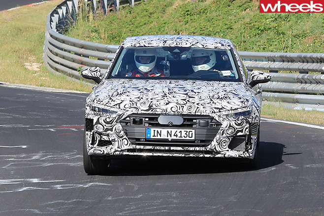 Audi -S7-spy -pic -driving -front