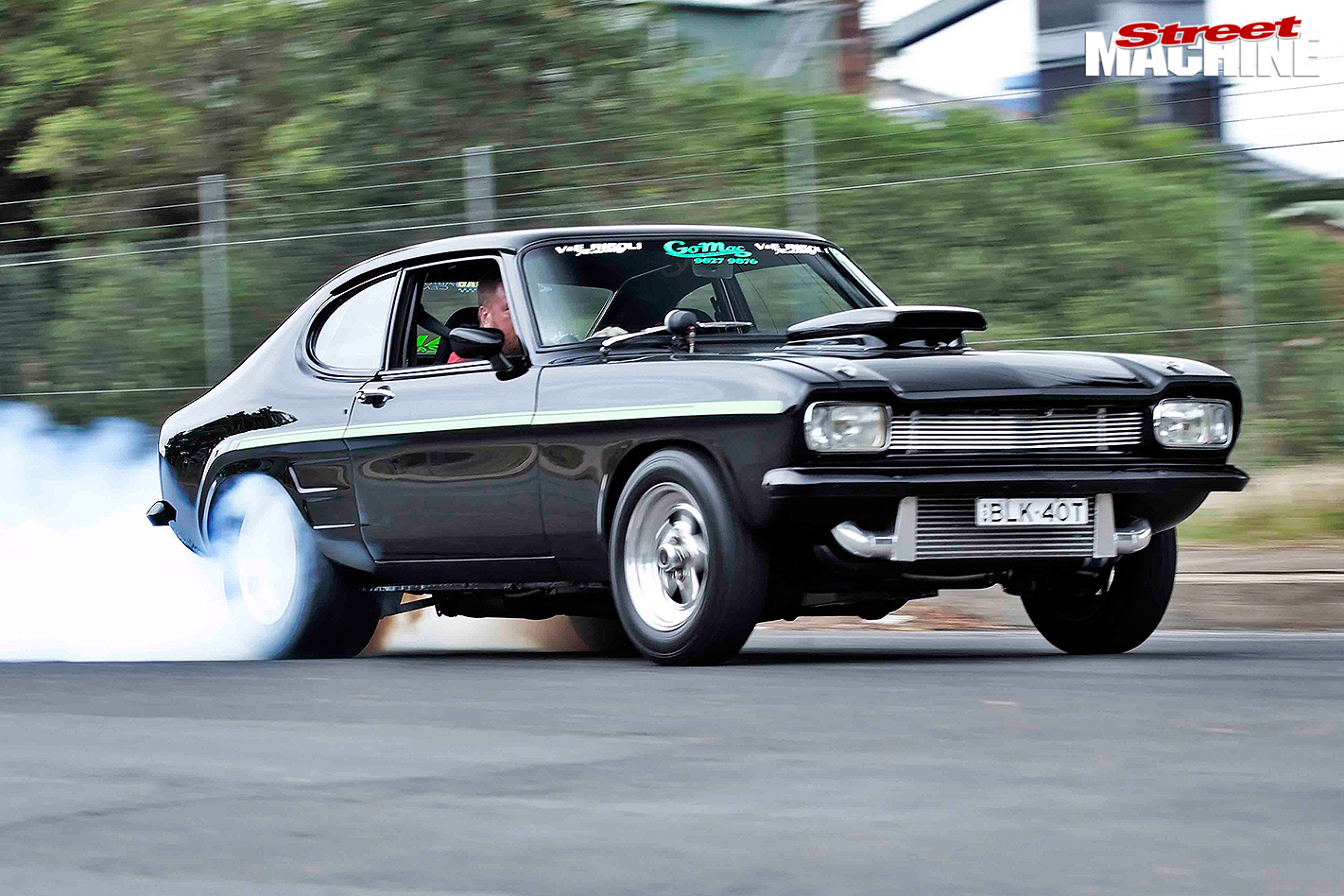 Ford -Capri -front -burnout