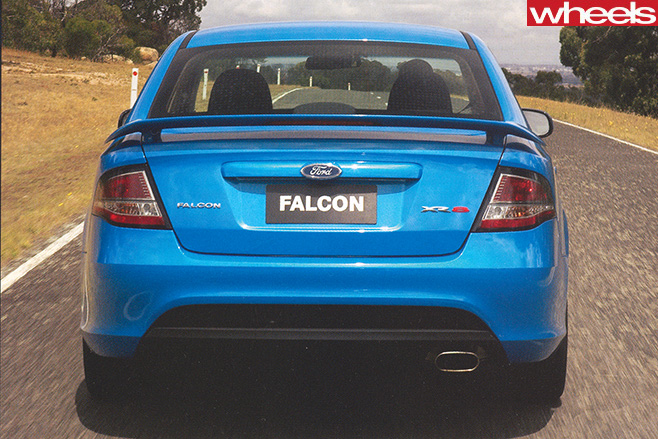 Ford -fg -falcon -driving -rear
