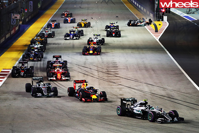 F1-cars -racing -corner