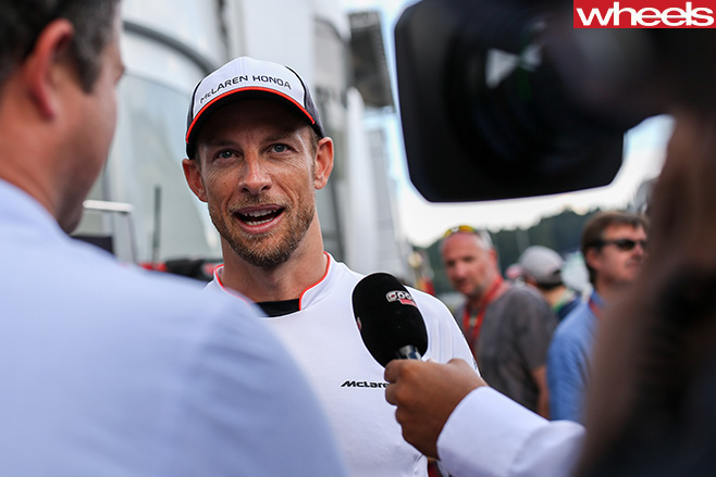 F1-driver -interview