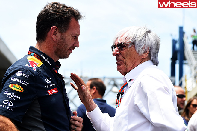 Bernie -Ecclestone -F1-Boss -with -driver