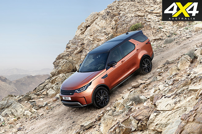 2017 Land Rover Discovery downhill driving