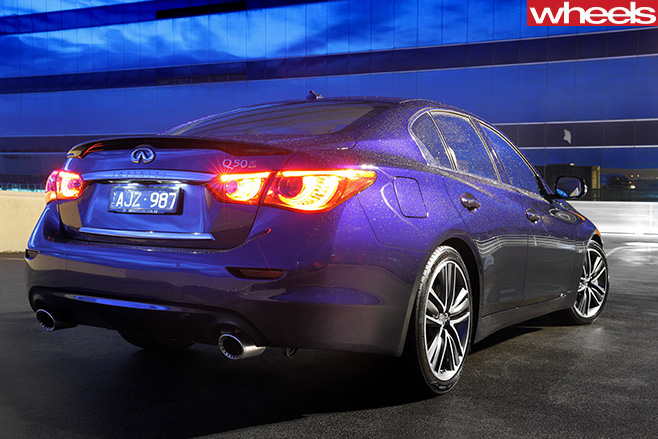 Infiniti -Q50-S-rear -side
