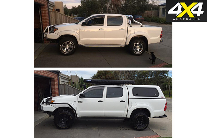 Wayne singleton hilux before after