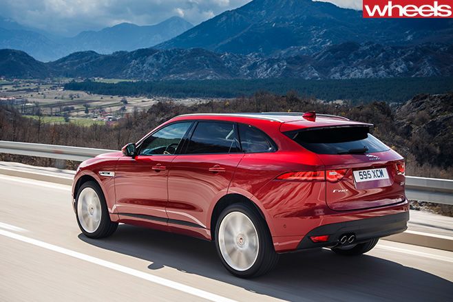 Jaguar -F-Pace -driving -rear