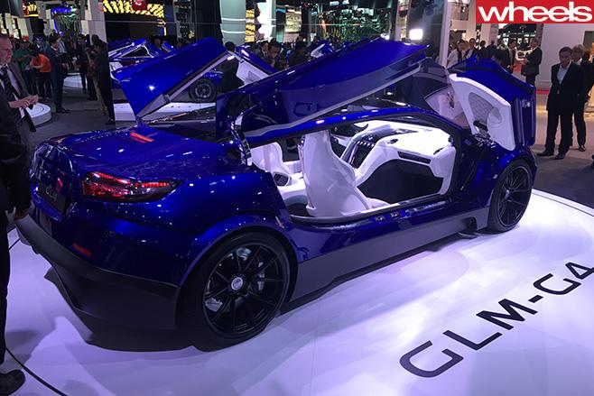 GLM-400kw -Japanese -supercar -rear -side