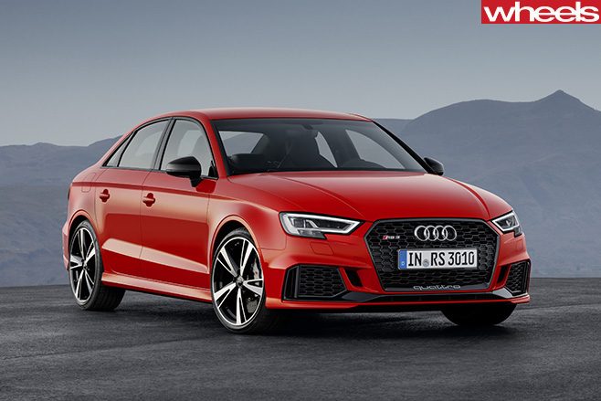 Audi -RS3-sedan -front -side