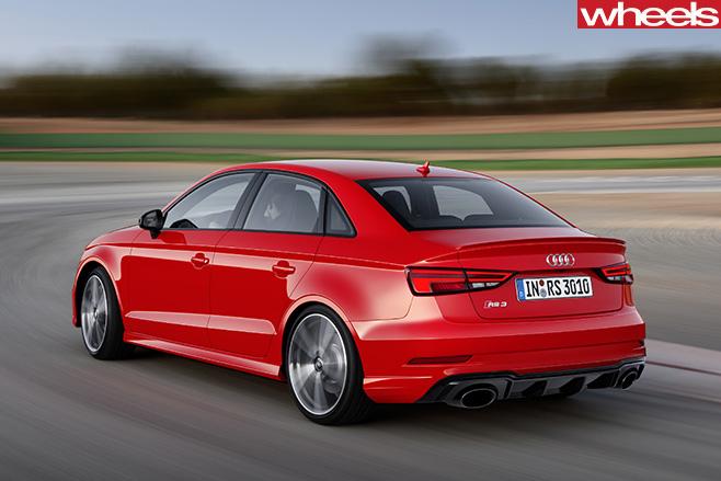 Audi -RS3-sedan -rear -driving