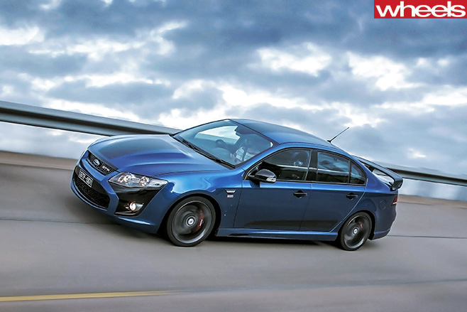 2014-Ford -Falcon -GT-F-driving -front -side