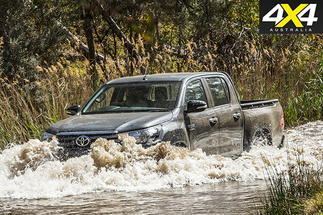 Toyota hilux driving water