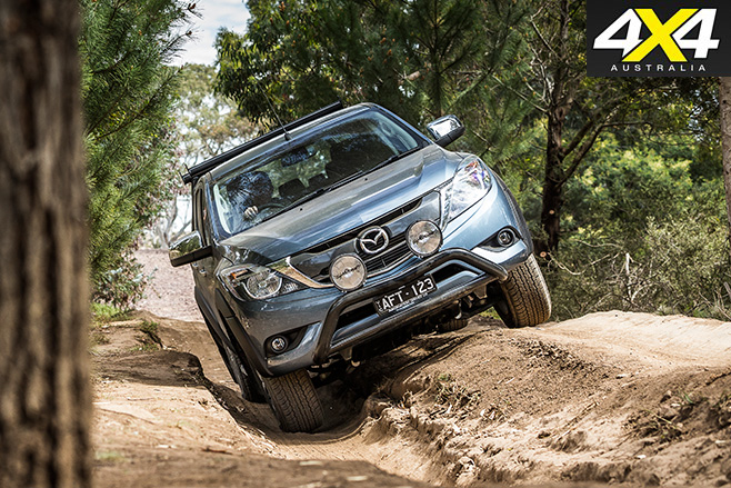 Mazda bt-50 driving forward