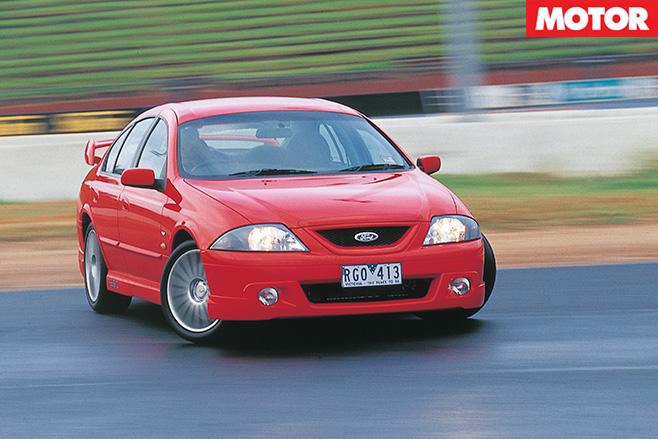 Tickford TE50 driving hard