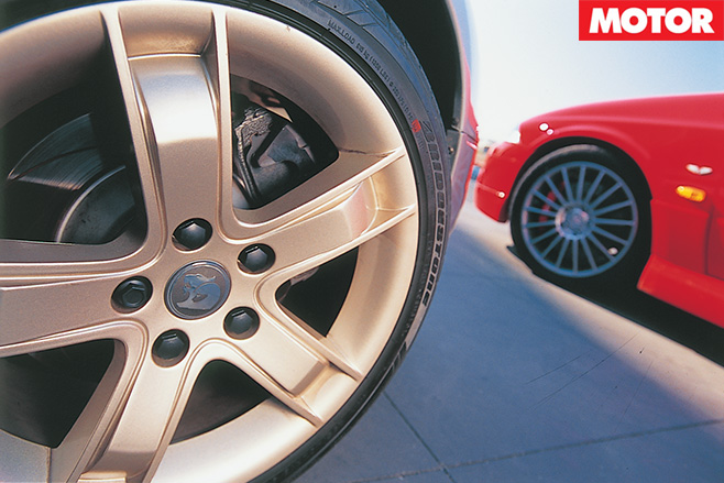 Both cars wheels