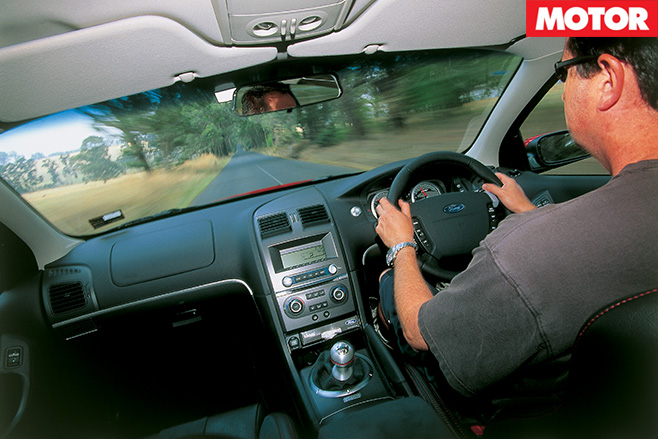 Ford FPV-GT driving