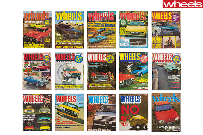 Wheels -ford -Falcon -Covers -celebrating -56-years -of -Australian -manufacturing -1970s