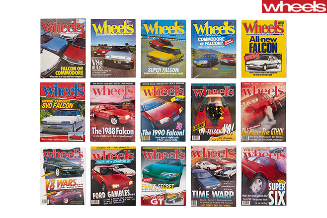 Wheels -ford -Falcon -Covers -celebrating -56-years -of -Australian -manufacturing -1980s
