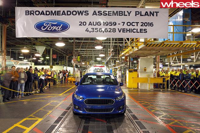 Last -Ford -Falcon -sedan -Australian -plant