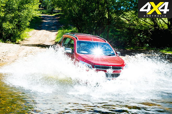 Holden Colorado driving water