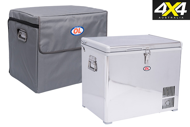 Opposite lock portable fridge freezer