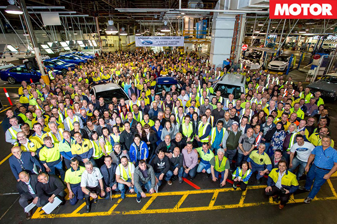 Ford falcon broadmeadows assembly team