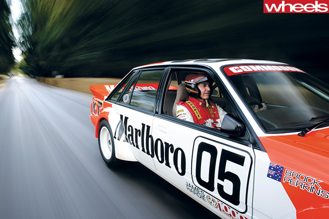 Peter -Brock -racing -Goodwood
