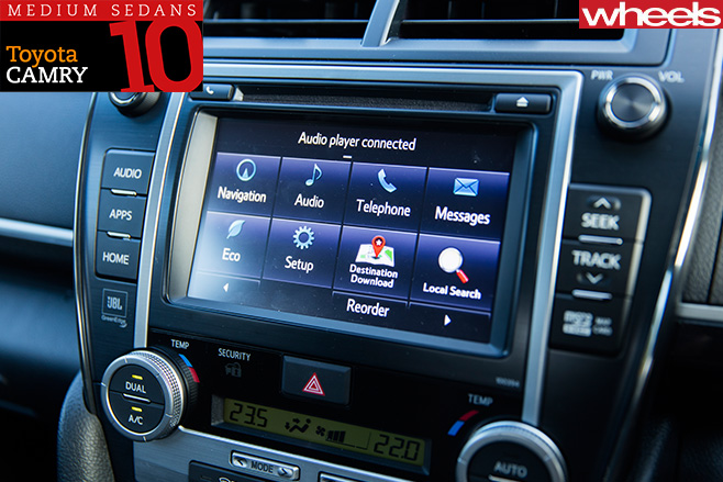 Toyota -Camry -infotainment