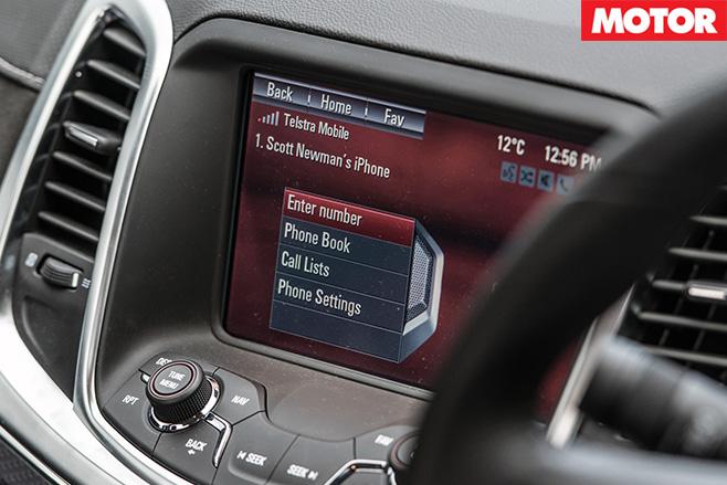 Holden SS-V redline ute screen