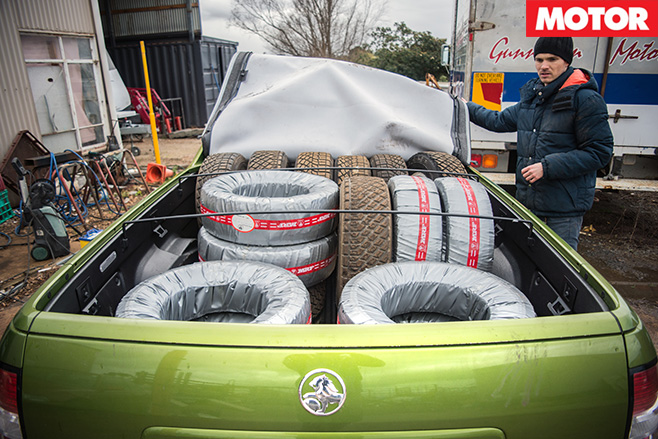 Holden SS-V redline ute tray loaded up