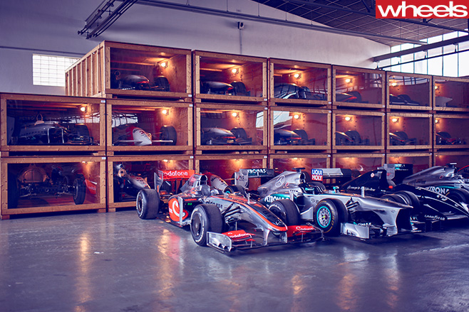 Mercedes -Benz -Classic -Centre -Holly -Halls -F1-wall