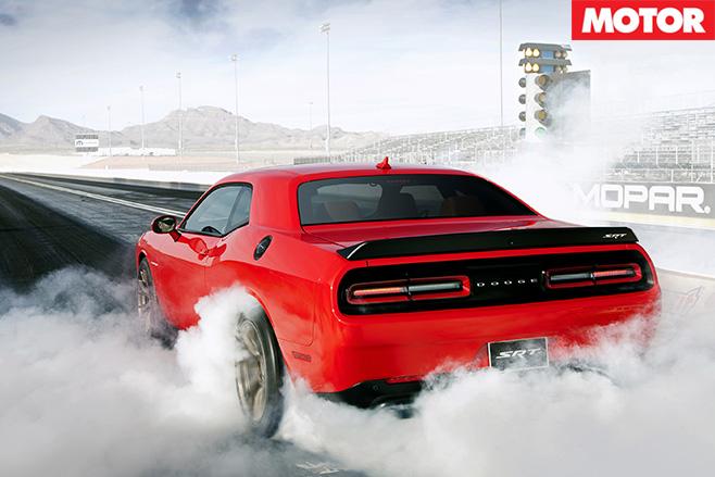 Dodge Challenger SRT rear