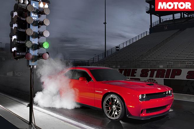 Dodge Challenger SRT front burnout