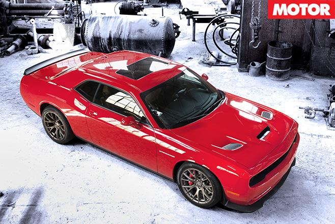 Dodge Challenger SRT top view