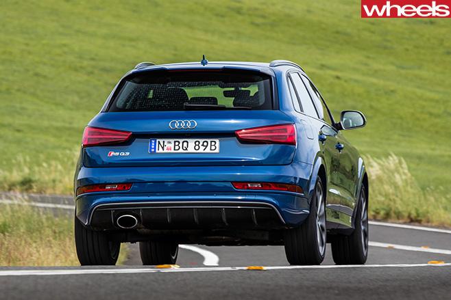 Audi -RS-Q3-driving -rear