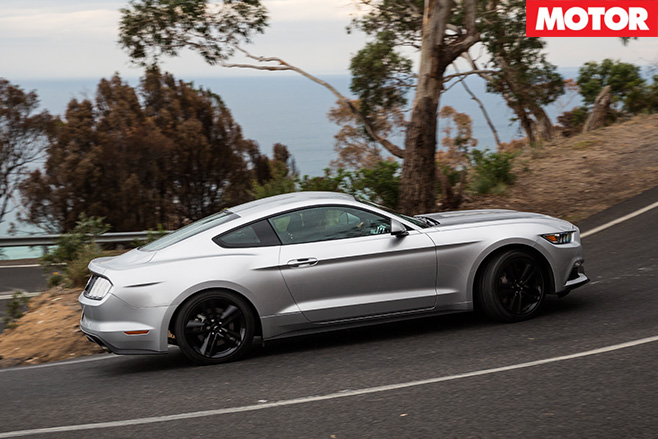 Ford Mustang Ecoboost driving