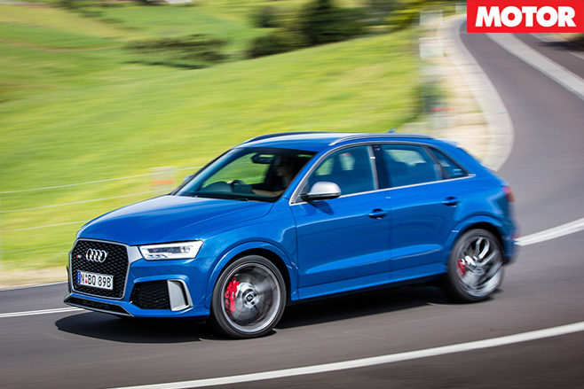 Audi RS Q3 performance side driving