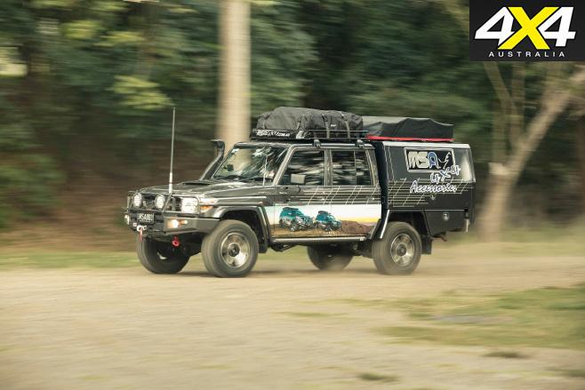 Toyota landcruiser 70-series driving