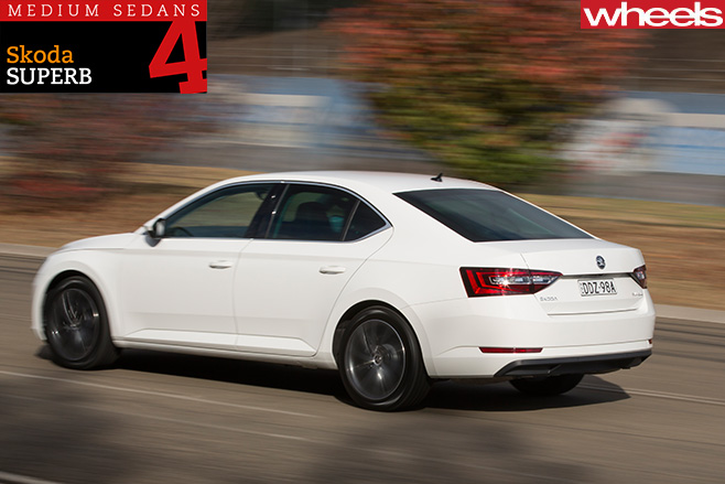 Skoda -Superb -driving -rear