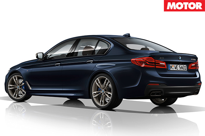 BMW M550i xDrive rear