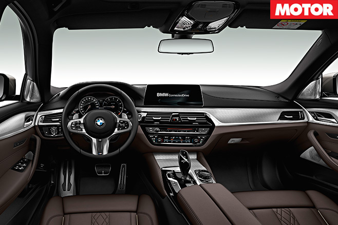 BMW M550i x Drive interior